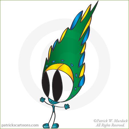 Saman cartoon character.